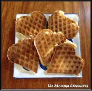 Heart-shaped waffles