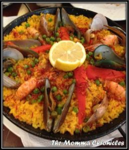 Paella Valenciana  1-2 pax: P398.00 3-4 pax: P768.00 5 and above: P1,488.00