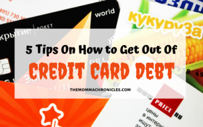 5 Simple Tips to Get You Out of Credit Card Debt