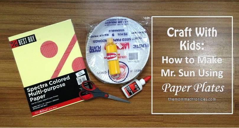 Craft Ideas - Mr Sun