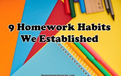 9 Homework Habits We (Finally) Established