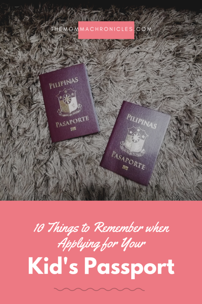 Passport Application for Kids