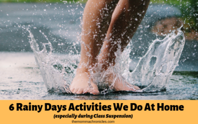 6 Rainy Day Activities We Do At Home