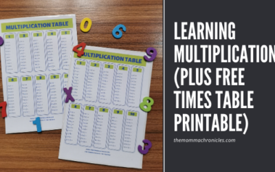 Learning Multiplication + FREE Times Table Printable