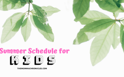 A Simple Summer Schedule For Kids