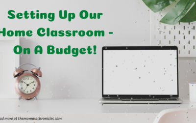 Setting Up Our Classroom At Home – On A Budget!
